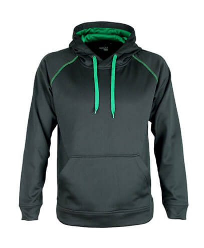 XTH Adults Performance Hoodie - Black/Kelly Green