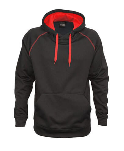 XTH Adults Performance Hoodie - Black/Red