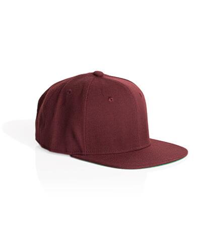 1101 Trim Snapback Cap - Burgundy
