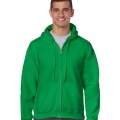 18600 Mens Basic Zip Hoodie - Irish Green