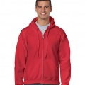 18600 Mens Basic Zip Hoodie - Red