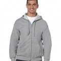 18600 Mens Basic Zip Hoodie - Sports Grey