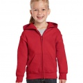 18600B Kids Basic Zip Hoodie - Red