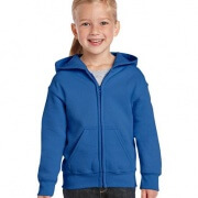 18600B Kids Basic Zip Hoodie - Royal