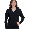 18600FL Womens Basic Zip Hoodie - Black