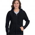 18600FL Womens Basic Zip Hoodie - Black