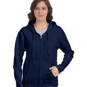 18600FL Womens Basic Zip Hoodie - Navy