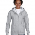 18600FL Womens Basic Zip Hoodie - Sports Grey