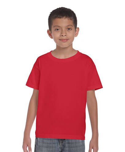 5000B Kids Basic T-shirt - Red
