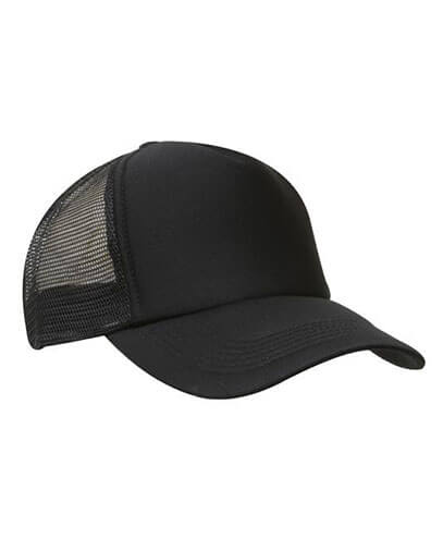 3803 Mesh Trucker Cap - Black