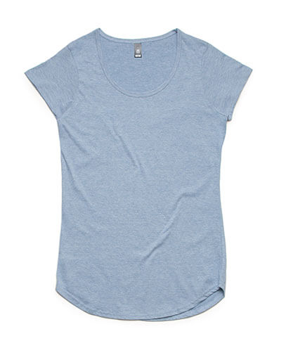 4008 Womens Mali Scoop T-shirt - Light Blue Marle