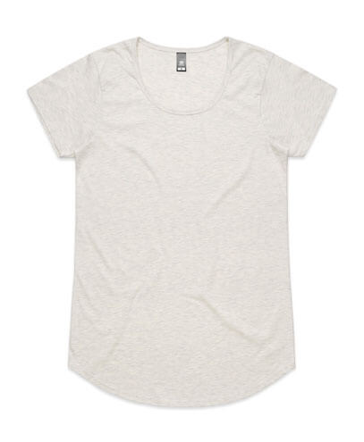 4008 Womens Mali Scoop T-shirt - Oatmeal Marle