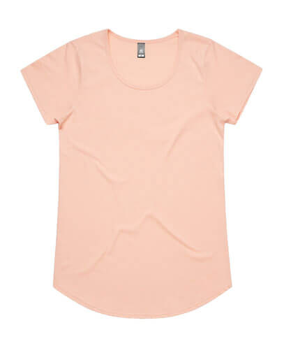 4008 Womens Mali Scoop T-shirt - Pale Pink