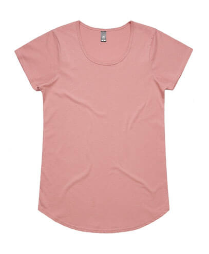 4008 Womens Mali Scoop T-shirt - Rose