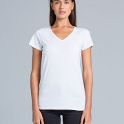 4010 Womens Bevel V-Neck T-shirt - Front