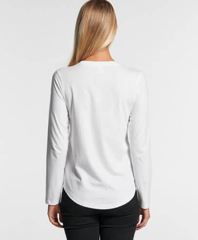 4055 Womens Curve Long Sleeve T-shirt - Back