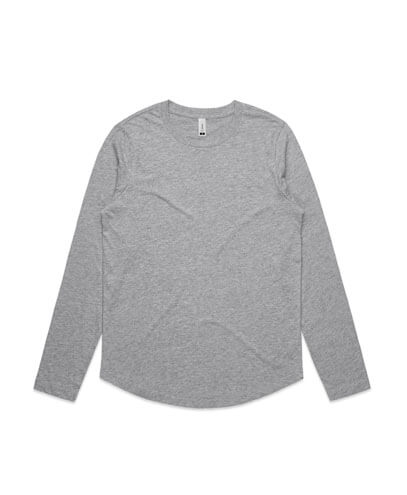 4055 Womens Curve Long Sleeve T-shirt - Grey Marle