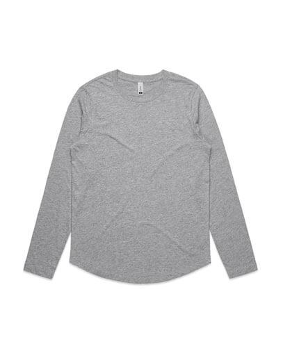 4055 Womens Curve Long Sleeve T-shirt - Grey Marle