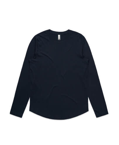 4055 Womens Curve Long Sleeve T-shirt - Navy