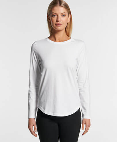 4055 Womens Curve Long Sleeve T-shirt - Front