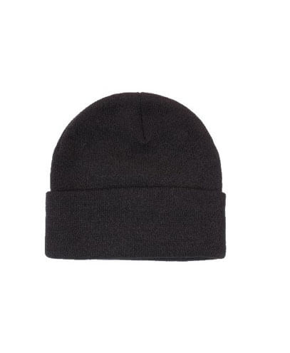 4243 Adults Acrylic Toque Beanie - Black