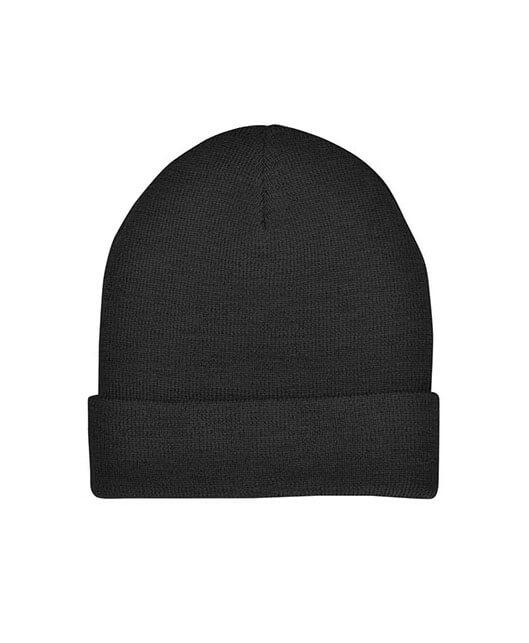 4367 Natural Wool Beanie - Black