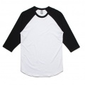 5012 Adults Raglan T-shirt - White / Black