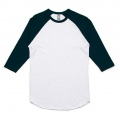 5012 Adults Raglan T-shirt - White / Navy