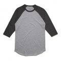 5012 Adults Raglan T-shirt - Grey Marle / Charcoal
