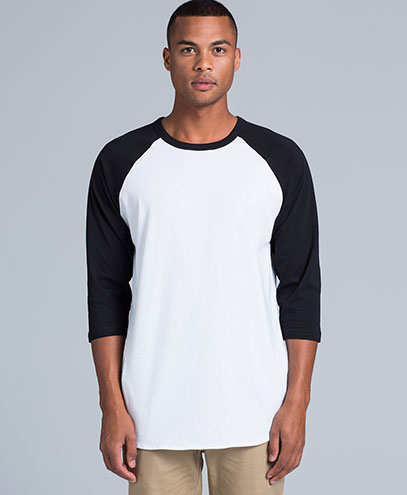5012 Adults Raglan T-shirt - Front