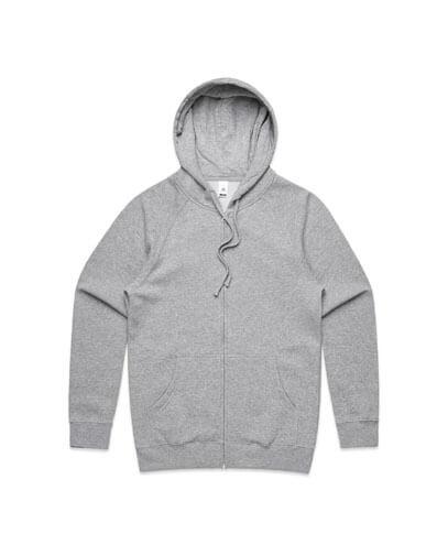 5103 Adults Official Zip Hoodie - Grey Marle