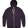 5107 Adults Traction Zip Hoodie - Purple Marle