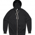 5107 Adults Traction Zip Hoodie - Asphalt Marle
