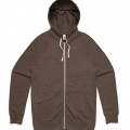 5107 Adults Traction Zip Hoodie - Brown Marle
