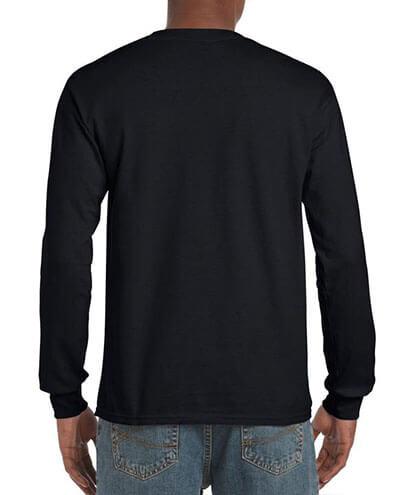 5400 Adults Heavy Cotton Long Sleeve Tee - Back