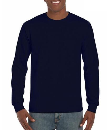 5400 Adults Heavy Cotton Long Sleeve Tee - Navy