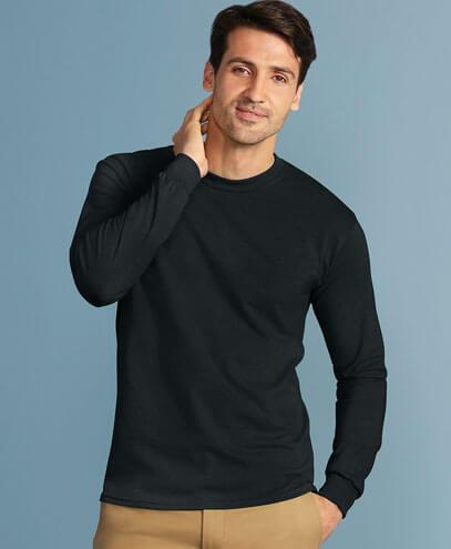 5400 Adults Heavy Cotton Long Sleeve Tee - Worn by Male Model