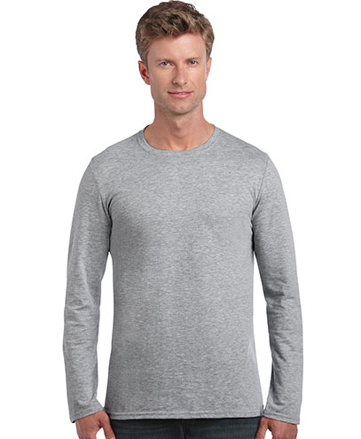 64400 Mens Lightweight Long Sleeve T-shirt - Sports Grey