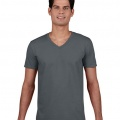 64V00 Mens Basic V-Neck T-shirt - Charcoal