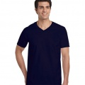64V00 Mens Basic V-Neck T-shirt - Navy