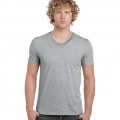 64V00 Mens Basic V-Neck T-shirt - Sport Grey