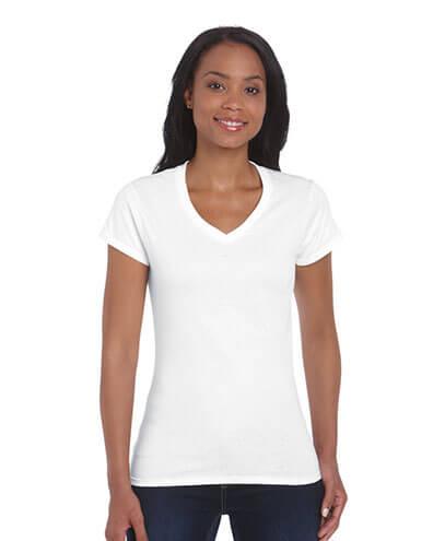 V neck tshirts scoop neck tees custom clothing for Best white t shirt women s v neck