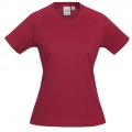 T301LS Womens Sprint Quick Dry T-shirt - Red