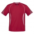 T406MS Mens Razor Quick Dry T-shirt - Red / White