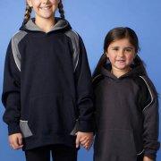 3509 Kids Huxley Contrast Hoodie - Front