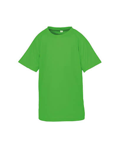 S287B Spiro Youth Impact Performance Aircool Tee - Fluoro Green