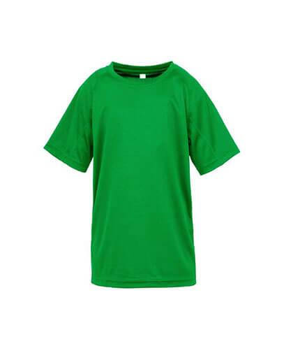 S287B Spiro Youth Impact Performance Aircool Tee - Irish Green