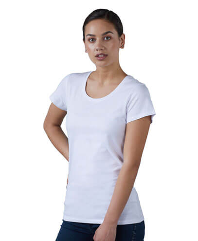 T300W Womens Icon White Tee - Worn