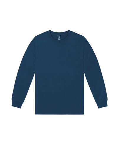 T403 Mens Long Sleeve Loafer Tee - Navy