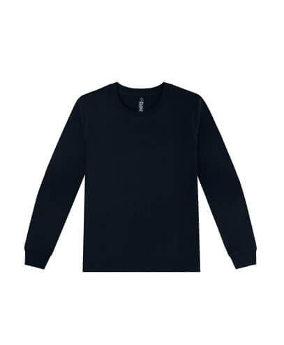 T404 Womens Long Sleeve Loafer Tee - Black